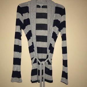 Splendid Belted Striped Cardigan